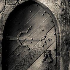 Church door, Crowfield Church, Suffolk.