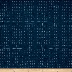 Me   You Indah Batiks Alphabet Organic from @fabricdotcom  Designed by Me   You for Hoffman, this Indonesian batik is perfect for quilting, apparel and home decor accents. Colors include shades of blue.