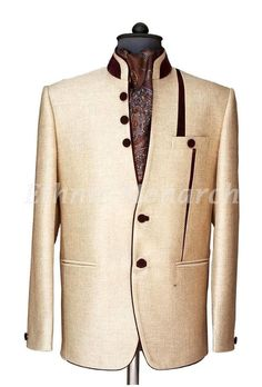 Ethnic Monarch is the best online store for traditional kids dresses and mens wedding clothes. We specialized in Ethnic wear like Breeches, Jodhpuri suits, sherwani,and tuxedos. Dress Suits For Men, Men Dress, Groom Dress, Mens Suits, Indian Men Fashion, Mens Boots Fashion, Nehru Jackets, Men's Coats And Jackets, King Fashion