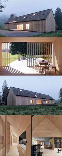 contemporary barn styling - Haus am Moor - Austria