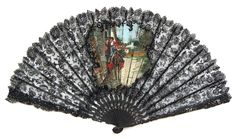 Black Spanish Lace Fan - Date: ca. 1900-1905 - MadAboutFans.com