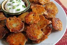 These crispy potatoes have amazing flavor and texture. They can prepared quickly for a dinner side, Game Day or party snack, or breakfast and brunch potatoes. Roasted Baby Potatoes, Parmesan Potatoes, Crispy Potatoes, Vegetable Side Dishes, Vegetable Recipes, Great Recipes, Favorite Recipes, Family Recipes, Cooking Recipes