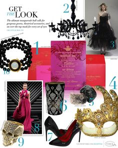 Masquerade Party - The ultimate masquerade ball calls for gorgeous gowns, theatrical accessories, and an over-the-top mask for every set of eyes