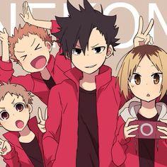Nekoma High   Haikyuu!   ♤ #anime ♤ Chibi