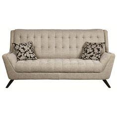 Camilia Sofa, mid century modern sofa, clean lines sofa, beige sofa, – Interior Motives by Will Smith LLC