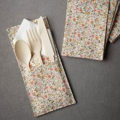 The perfect napkin set for a garden themed wedding. (via BHLDN)