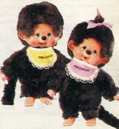 Monchhichi Dolls.  I didn't leave the house without the girl doll.