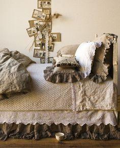 burlap bed skirt? or linen?