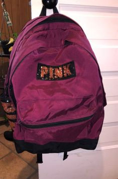 Used for one year of school still like new and still in good condition. Original price was $70 Pink Backpacks, Buy Now, School, Model, Bags, Fashion, Mathematical Model, Handbags, Moda