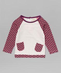 Look at this #zulilyfind! Origany Purple Organic Cotton Raglan Tee - Infant, Toddler & Girls by Origany #zulilyfinds