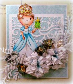 The Paper Nest Dolls Challenge Blog: Princess for a Day tutorial available on the blog for the flowers