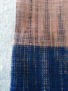 Linen tea towell from Xanna - organic cotton   Burmese rosewood + indigo dye