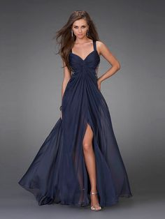 Shop long formal dresses and formal evening gowns at Simply Dresses. Women's formal dresses, long evening gowns, floor-length affordable evening dresses, and special-occasion formal dresses. Navy Blue Prom Dresses, A Line Prom Dresses, Homecoming Dresses, Pretty Dresses, Beautiful Dresses, Bridesmaid Dresses, Formal Dresses, Dress Prom, Dress Long