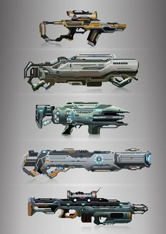 Weapon concepts - sci-fi rifles #guns