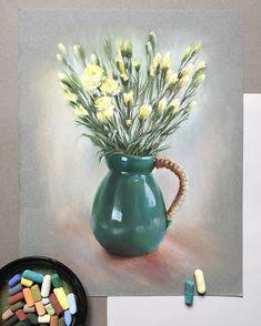 Вдохновлённая кувшином Очень люблю такой зелёный. Бумага Canson. Формат А3. Thank you for the inspiration @nordingarden #пастель #арт #рисуемпастелью #softpastel #softpastels #canson #cansonpaper #illustration #illustrator #artist #pastelpainting