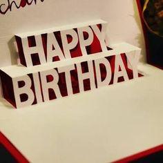 pop up feliz cumpleaños Bday Cards, Happy Birthday Cards, Birthday Presents, Diy Craft Projects, Diy And Crafts, Paper Crafts, Tarjetas Pop Up, Exploding Boxes, Pop Up Cards