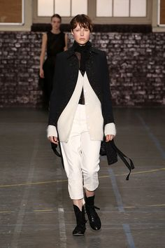 Eddie Campbell walking for #PFW John Galliano Fall Winter 2016/17 Collection