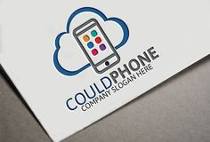 Could Phone Logo by Josuf Media on Creative Market