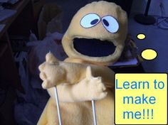 How to make a moving mouth puppet with arm rods (Mac and Cheese) « Puppet Kaos - where Kelvin Kao plays with puppets and tell random stories