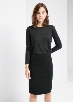 Camiseta lana mango 16e ref: 31055509 - vilian
