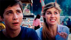 Reaction to Percy Jackson movie gif I'm Annabeth and everyone else is Percy