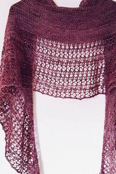 Ravelry: Rosewater shawl in Madelinetosh Tosh Merino Light - knitting pattern by Janina Kallio.