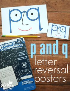 Posters for p and q Letter Reversals - This Reading Mama Free Teaching Resources, Teaching Aids, Teaching Reading, Alphabet Activities, Writing Activities, Alphabet Worksheets, Letter Recognition, Letter Tracing, Fine Motor Activities For Kids