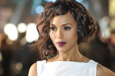 A faux bob + vampy lipstick = vintage glamour. See more of Kerry Washington's best hair moments here: