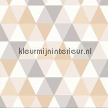 Colourcollage piramides beige behang 342-347223 Grafisch - Abstract Origin