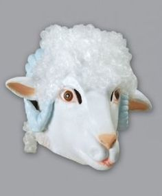 Latex Sheep Ram Dog Fish Hare Fox Mask Animal Full Head Dress Up Party Costume