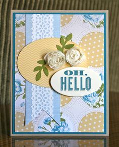 Stampin' Up! Card by Krystals Cards and More: Oh, Hello