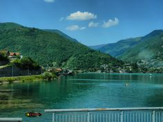 Neretva river, somewhere in Bosnia and Herzegovina, photo from the bus, Nikon Coolpix L310, 10.2mm, 1/640s, ISO80, f/3.8, -1.3ev, HDR-Art photography, 201607101503