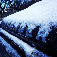 Morning #hibernot #LandRoverDefender #defender #110xs #snow by walsh110 Morning #hibernot #LandRoverDefender #defender #110xs #snow