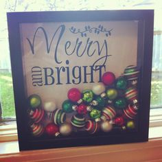 "Christmas Shadow Box- I'd say ""Sparklejollytwinklejingley!!!"""