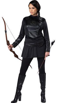 Plus SIze Warrior Huntress Costume
