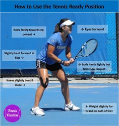 How To Use The Tennis Ready Position – Tennis Quick Tips Podcast 31 - Sport News Pro Tennis, Tennis Games, Tennis Tips, Shoes Tennis, Tennis Gear, Tennis Match, Tennis Tournaments, Tennis Players, Serena Williams