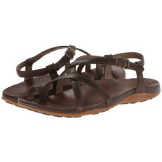 Chaco Dorra Women's Sandals ($95) ❤ liked on Polyvore featuring shoes, sandals, chaco footwear, two tone shoes, genuine leather shoes, two tone leather shoes and 2 tone shoes