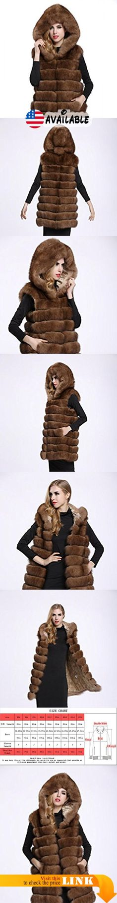 "B01J1CVSUI : TOPFUR Women's Real Fox Fur Vest Sable Fur Thick Waistcoat With Big Hood(XL). Made from high quality Genuine silver fox fur external with soft and elastic Polyester Lining which feels cozy on the skin and comfortable to wear. Available sizes and colors of stylish fur Gilet excellently fit well with your demand. Length:31.5""(80cm). Elegant Hat with handsome Slant pockets design look stereoscopic and gorgeous as the cool model when wearing this practical and"