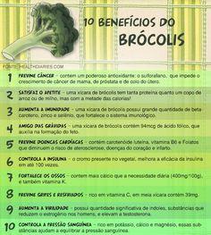 10 benefícios do brócolis