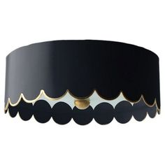 Check out this item at One Kings Lane! Scalloped Flush Mount, Black