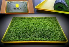 SUN POTTY Premium Artificial Turf Dog Potty Grass Patch Puppy Pee Tray