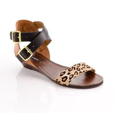 Leather and Leopard Sandal