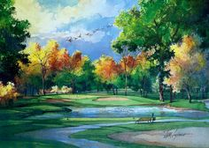 """17th at Rolling Green"" Tom Lynch Limited Edition Watercolor Print 