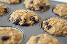 just made these and they are delicious! healthy too :) oatmeal blueberry applesauce muffins