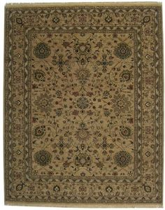 RugStudio presents ORG Nuance P43 Beige Hand-Knotted, Best Quality Area Rug