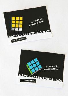 Cute Boys Valentine with a mini Rubik's Cube at PagingSupermom.com #valentines
