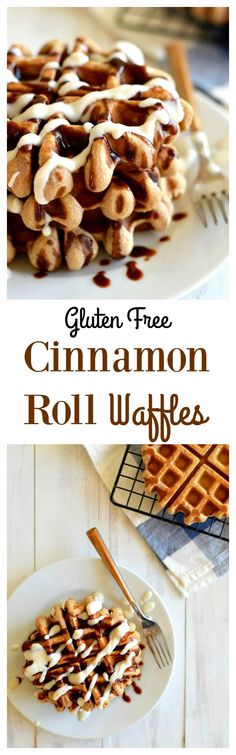 Gluten Free Cinnamon Roll Waffles made with Otto's Cassava Flour! [Nut free, dairy free and Paleo]