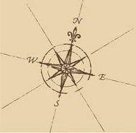 compass with a fleur de lis!