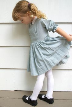 Vintage 1970s girl's white and bluegray by IfYouPleaseVintage, $58.00