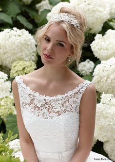 sassi holford #bridal 2015 isla sleeveless #wedding dress lace bodice #weddings #weddingdress